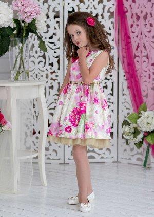 Беатрис нарядное платье малиновый
