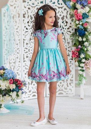 Магдалена нарядное платье мятный
