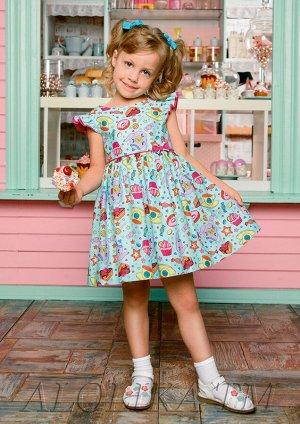 Пироженка платье хлопковое мятный