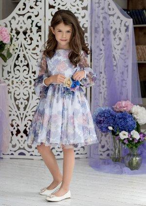 Сирения нарядное платье белый