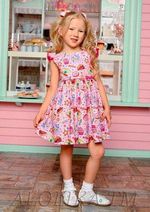 Пироженка платье хлопковое розовый