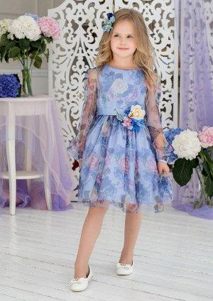 Сирения нарядное платье сиреневый