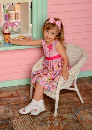 Сластёна платье хлопковое розовый