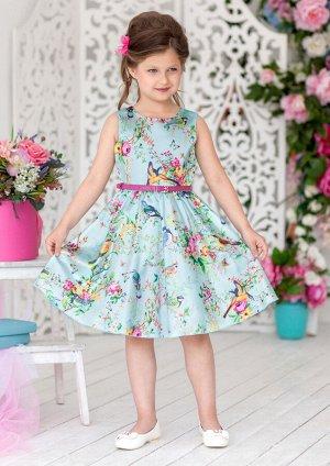 Малиновка нарядное платье мятный