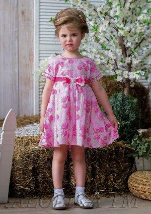 Стеша платье хлопковое розовый
