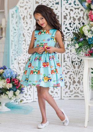 Совунья нарядное платье мятный
