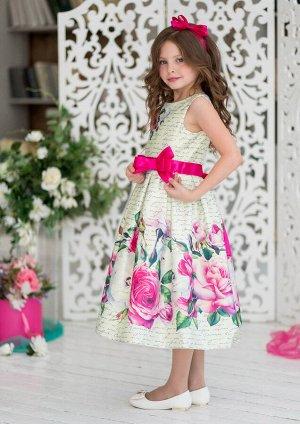 Марибель нарядное платье ванильный