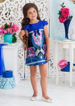 Габби нарядное платье синий