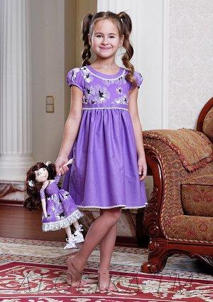 Юленька платье хлопковое сиреневый