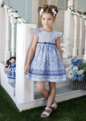 Яромила платье хлопковое синий