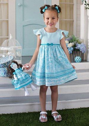 Яромила платье хлопковое бирюзовый