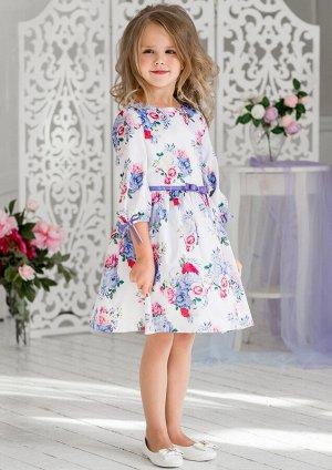 Дженифер нарядное платье бел.сиреневый