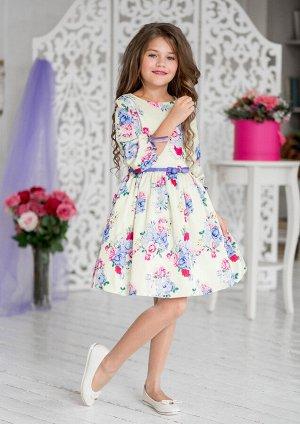 Дженифер нарядное платье ванильный