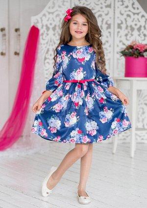 Дженифер нарядное платье т.синий