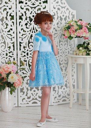 Франсуаза нарядное платье голубой