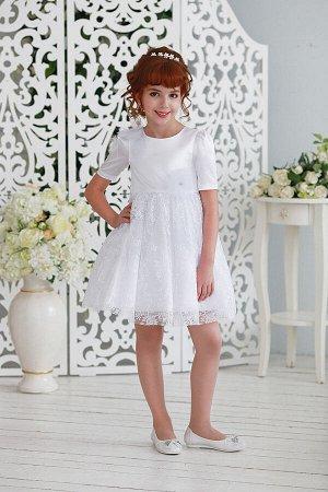 Франсуаза нарядное платье белый