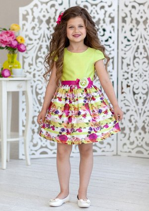 Желанна нарядное платье лаймовый