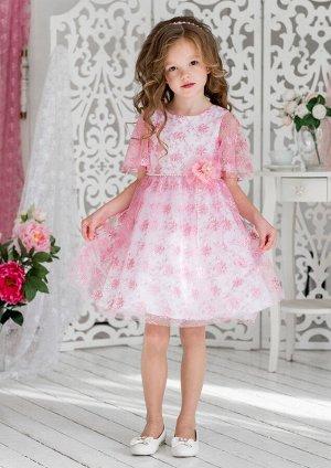 Милана нарядное платье розовый