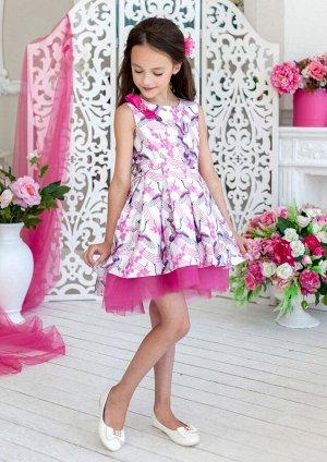 Журавушка нарядное платье белый
