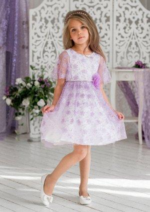 Милана нарядное платье сиреневый
