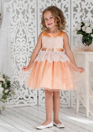 Эвита нарядное платье абрикосовый