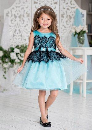 Кармелита нарядное платье бирюзовый