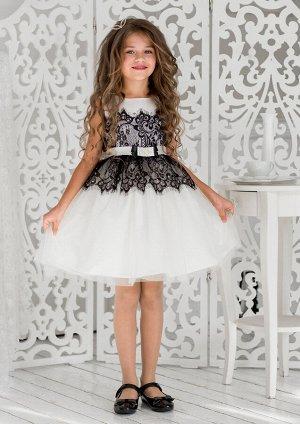 Кармелита нарядное платье ванильный