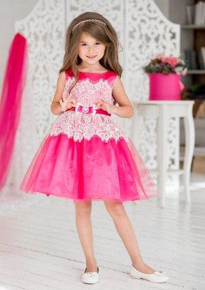 Эвита нарядное платье малиновый