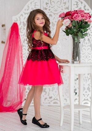 Кармелита нарядное платье малиновый