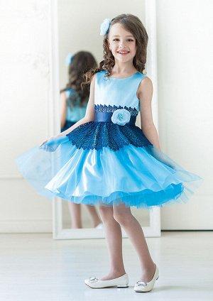 Мэгги нарядное платье небесный
