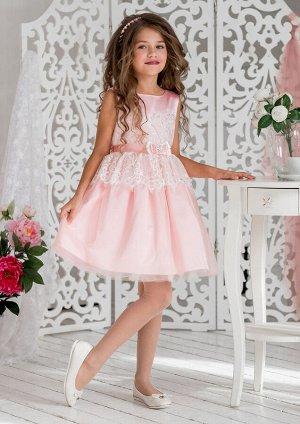 Эвита нарядное платье розовый