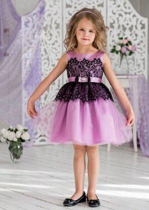Кармелита нарядное платье сиреневый