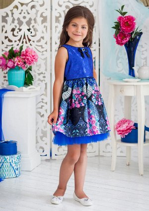 Эсмеральда нарядное платье синий