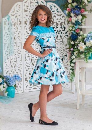 Рауза нарядное платье бирюзовый