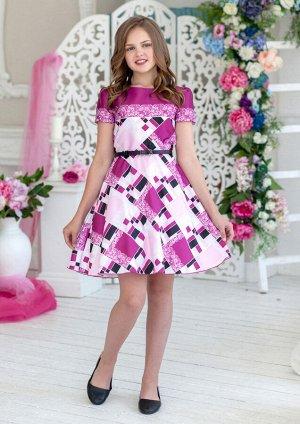 Рауза нарядное платье малиновый