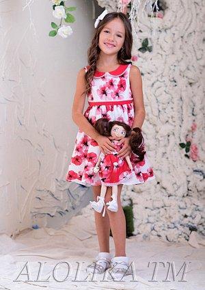 Аннушка платье хлопковое бел.красный