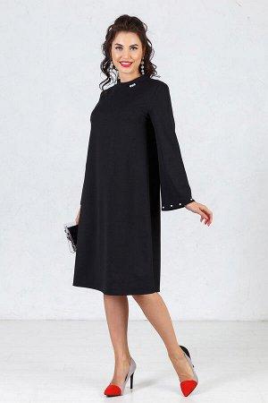 Платье Аманда (А - силуэт) черное П1015-8