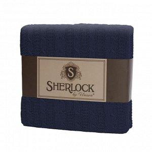 "Плед вязаный ""Sherlock"" 180х200 джинс"