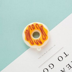 Пончик Для брелоков. Мандаринка долька как на фото. Акрил. Размер высота 4,5см, ширина 1см. Есть петелька для цепочки.