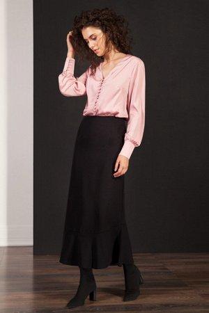 Юбка миди Полиэстер 100% Рост: 170 см. Элегантная юбка-годе из струящейся ткани с фигурным воланом по низу. Юбка на подкладке.