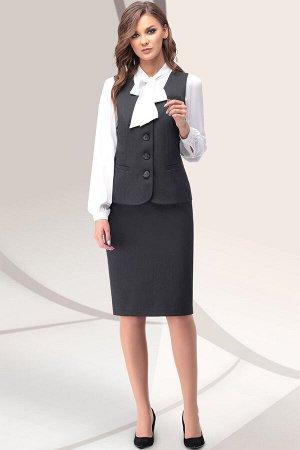 Женский комплект жилет и юбка
