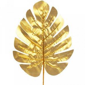 Лист зелени Монстера золото 17х20см
