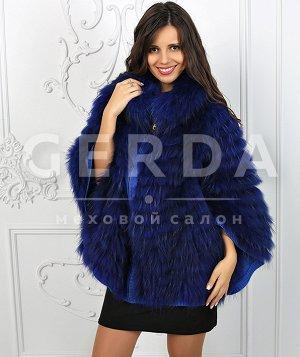 """Пончо из чернобурки """"Ванда"""" лазурь лазурь"""