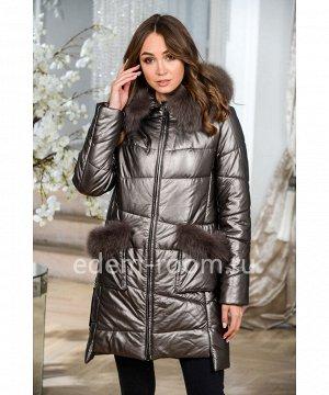 Молодёжная куртка из искусственной кожиАртикул: NS-1722-2-90-BR-P