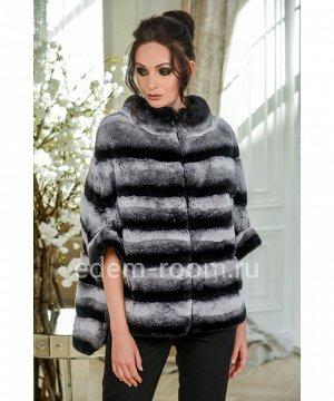 Куртка из рекса под шиншиллуАртикул: 525-1-3-70-HC-KR
