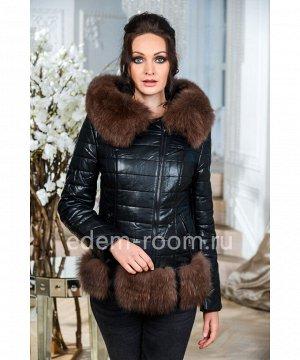 Зимняя куртка из искусственной кожиАртикул: GL-8856-2-65-CH-P