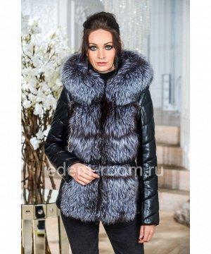 Зимняя куртка-жилет из из меха лисыАртикул: EN-532-2-65-CH-CH