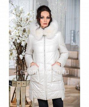 Белая куртка из эко-кожиАртикул: NS-1722-2-90-BL-P