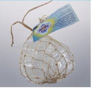 TAWAS CRYSTAL дезодорант,  3 Кристалла природной формы, разного веса (45-55гр.) в сетке, плетеной из пальмы Абака