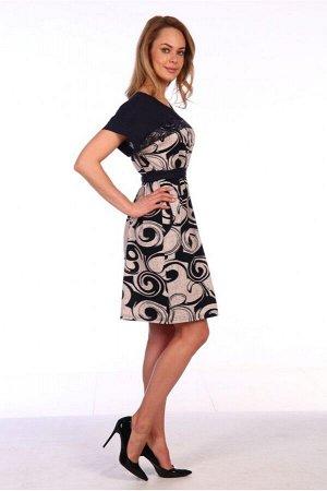 Платье № 160-бежевый